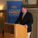 Sean McCarville, IBEW, speaks at CEA's Denver press conference