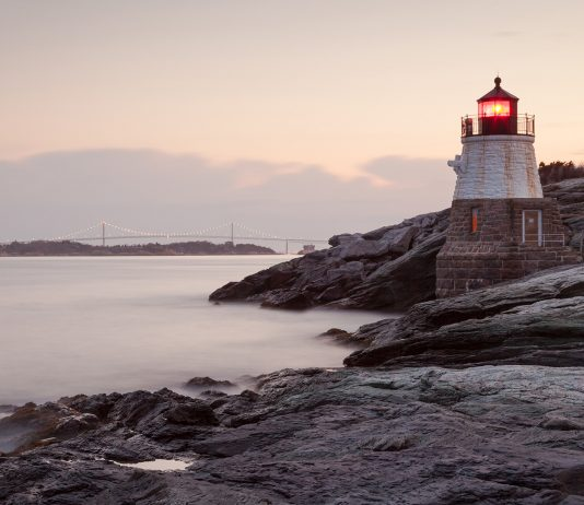 Castle Hill light house in Rhode Island New England