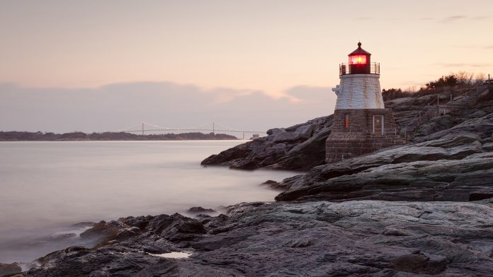 Castle Hill light house in Rhode Island New England