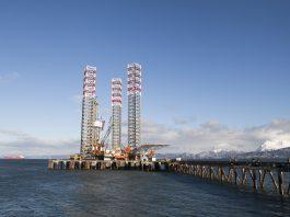 Drilling Rig in Homer Alaska