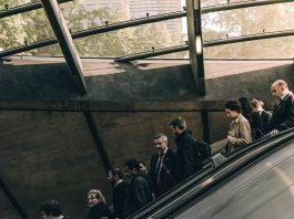 Business People on Escalator