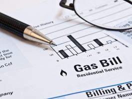 Monthly natural gas heating bill