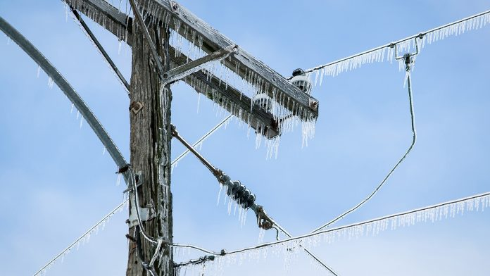 Ice on electric lines