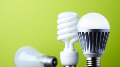 Household energy efficiency with light bulbs