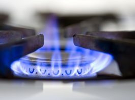 Natural gas used for cooking