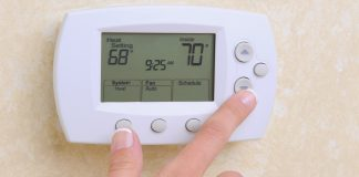 Smart thermostat for energy efficiency and conservation