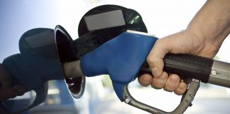 Putting gas in car