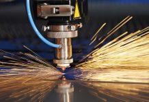 Laser cutting of metal sheet in tool shop