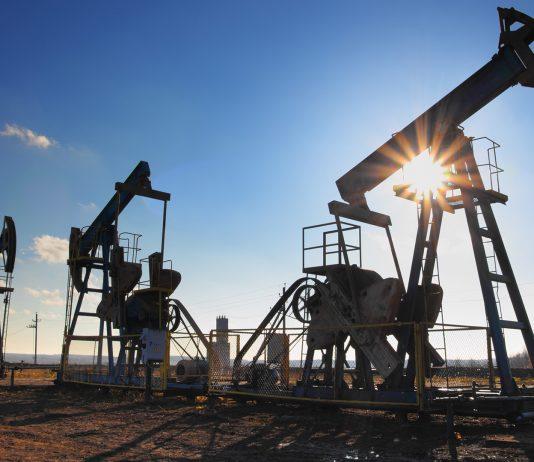 Oil derricks in daytime
