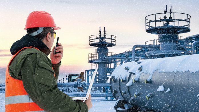Worker in Winter