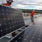 Large solar energy installation