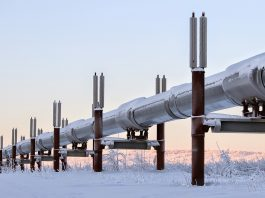 Trans Alaska Pipeline in Winter