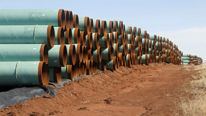 Pipelines ready to be placed in the ground