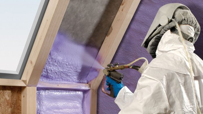 Spray Insulation in a Home