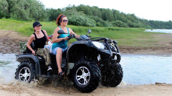 Riding an ATV