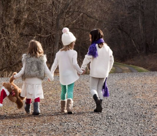 Children Walking in the Woods