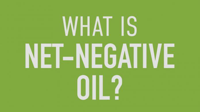 Net-negative oil